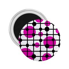 Magenta circles 2.25  Magnets
