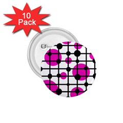 Magenta circles 1.75  Buttons (10 pack)