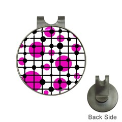 Magenta circles Hat Clips with Golf Markers