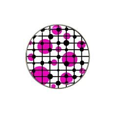 Magenta circles Hat Clip Ball Marker
