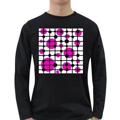 Magenta circles Long Sleeve Dark T-Shirts