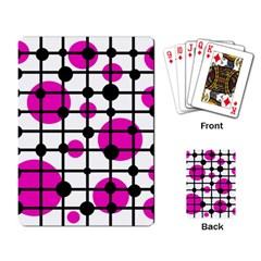 Magenta circles Playing Card