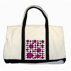 Magenta circles Two Tone Tote Bag