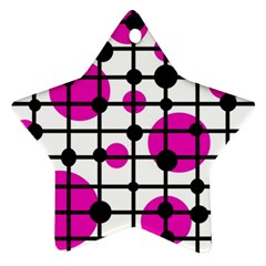 Magenta circles Star Ornament (Two Sides)