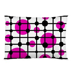 Magenta circles Pillow Case