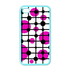 Magenta circles Apple iPhone 4 Case (Color)