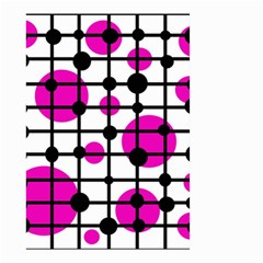 Magenta circles Small Garden Flag (Two Sides)