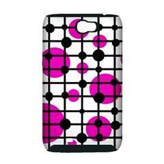 Magenta circles Samsung Galaxy Note 2 Hardshell Case (PC+Silicone)