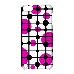 Magenta circles Apple iPod Touch 5 Hardshell Case with Stand