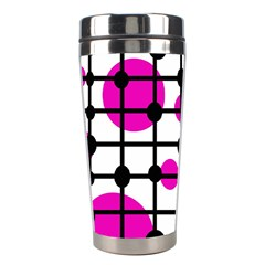 Magenta circles Stainless Steel Travel Tumblers