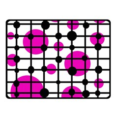 Magenta circles Double Sided Fleece Blanket (Small)
