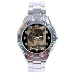 Maggie Chinchillin Stainless Steel Analogue Watch