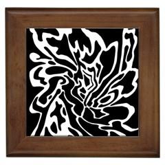 Black and white decor Framed Tiles