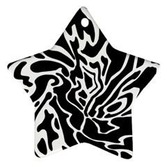 Black and white decor Ornament (Star)