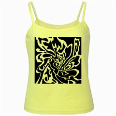 Black and white decor Yellow Spaghetti Tank