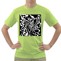 Black and white decor Green T-Shirt