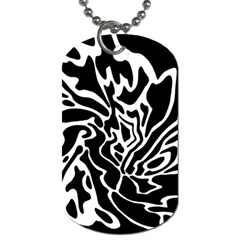 Black and white decor Dog Tag (One Side)