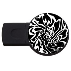 Black and white decor USB Flash Drive Round (1 GB)