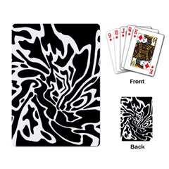 Black and white decor Playing Card