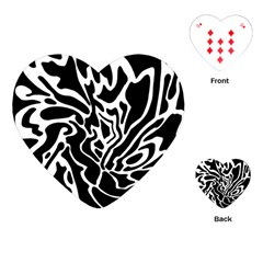 Black and white decor Playing Cards (Heart)
