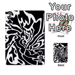 Black and white decor Playing Cards 54 Designs