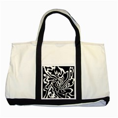 Black and white decor Two Tone Tote Bag