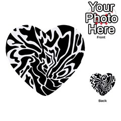 Black and white decor Multi-purpose Cards (Heart)