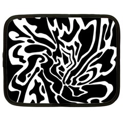 Black and white decor Netbook Case (Large)