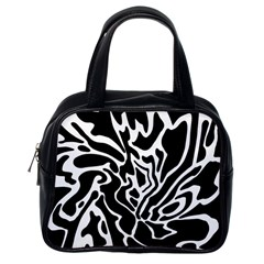 Black and white decor Classic Handbags (One Side)