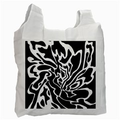 Black and white decor Recycle Bag (One Side)