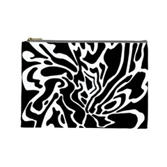 Black and white decor Cosmetic Bag (Large)