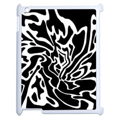 Black and white decor Apple iPad 2 Case (White)