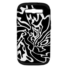 Black and white decor Samsung Galaxy S III Hardshell Case (PC+Silicone)