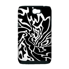 Black and white decor Samsung Galaxy Note 2 Hardshell Case (PC+Silicone)
