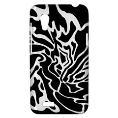 Black and white decor HTC Desire VT (T328T) Hardshell Case