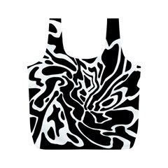 Black and white decor Full Print Recycle Bags (M)