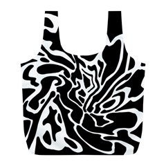 Black and white decor Full Print Recycle Bags (L)
