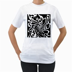 Black and white decor Women s T-Shirt (White)