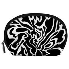 Black and white decor Accessory Pouches (Large)