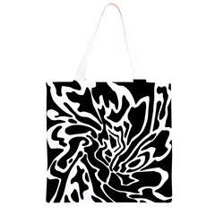 Black and white decor Grocery Light Tote Bag