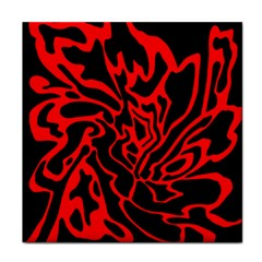 Red and black decor Tile Coasters