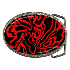 Red and black decor Belt Buckles