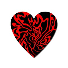 Red and black decor Heart Magnet