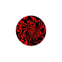 Red and black decor Golf Ball Marker