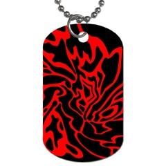 Red and black decor Dog Tag (Two Sides)