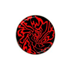 Red and black decor Hat Clip Ball Marker (10 pack)
