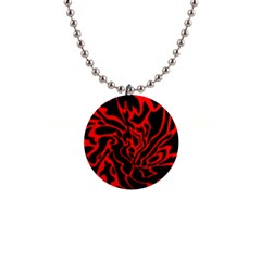 Red and black decor Button Necklaces