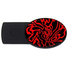 Red and black decor USB Flash Drive Oval (4 GB)