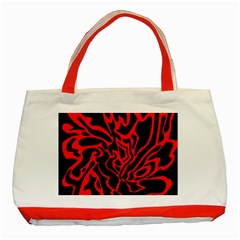 Red and black decor Classic Tote Bag (Red)
