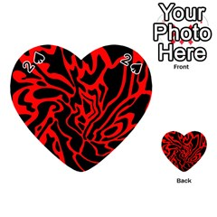 Red and black decor Playing Cards 54 (Heart)